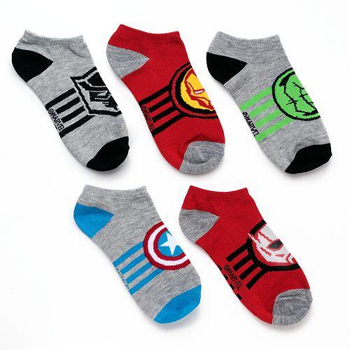 Boys 4-20 Avengers 5-Pack Low-Cut Socks