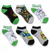 Boys 4-20 Teenage Mutant Ninja Turtle 5-Pack Low-Cut Socks