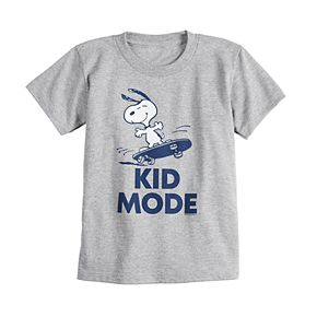 """Toddler Boy Family Fun Daddy & Me Peanuts Snoopy """"Kid Mode"""" Graphic Tee"""