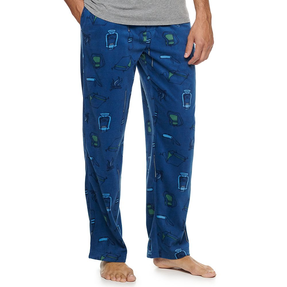 Men's Croft & Barrow® Patterned Microfleece Sleep Pants