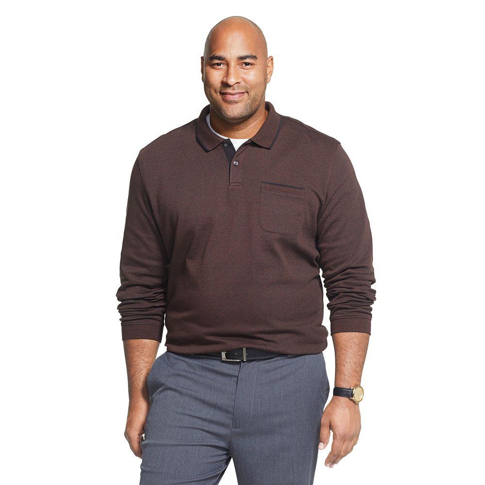 Men's Big & Tall Van Heusen Flex Jaspe Solid Polo