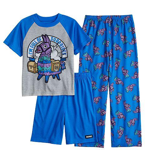 Boys 8-16 Fortnite Surprise 3-Piece Pajama Set