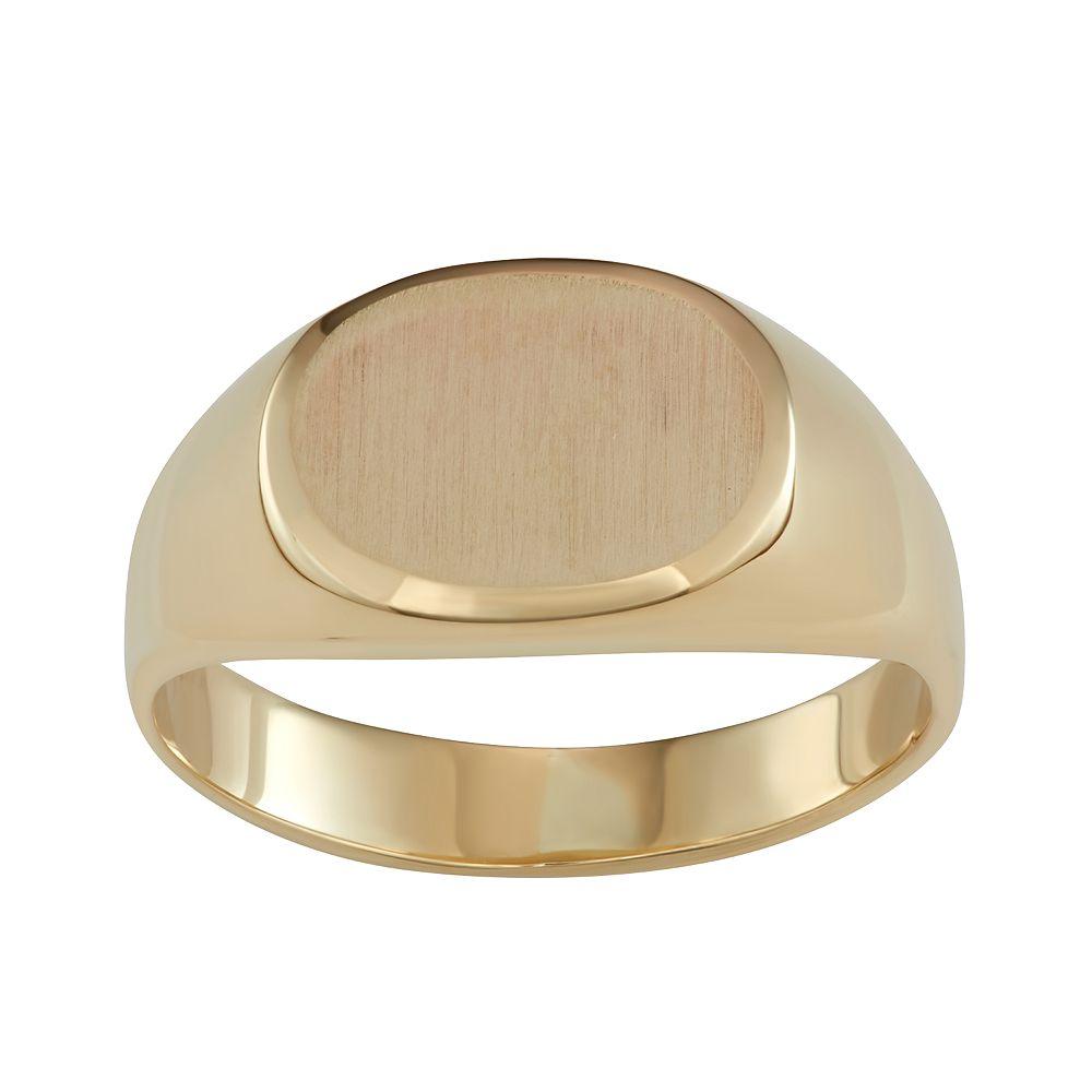 Women's 10k Gold Oval Signet Ring