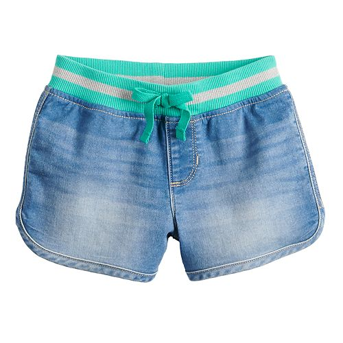 Girls 4-12 SONOMA Goods for Life™ Ribbed Denim Shorts