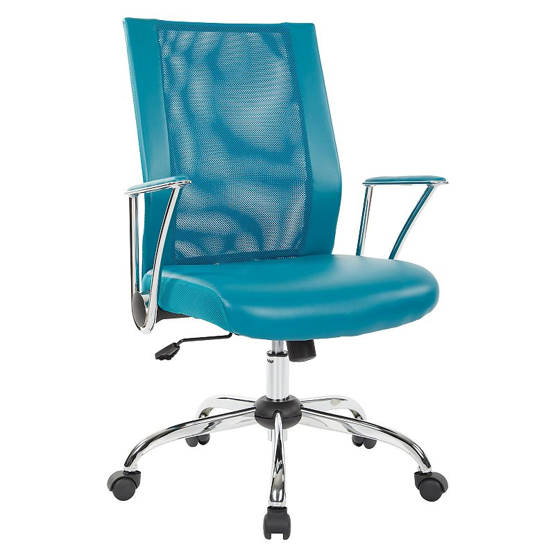 OSP Home Furnishings Bridgeway Office Chair, Blue
