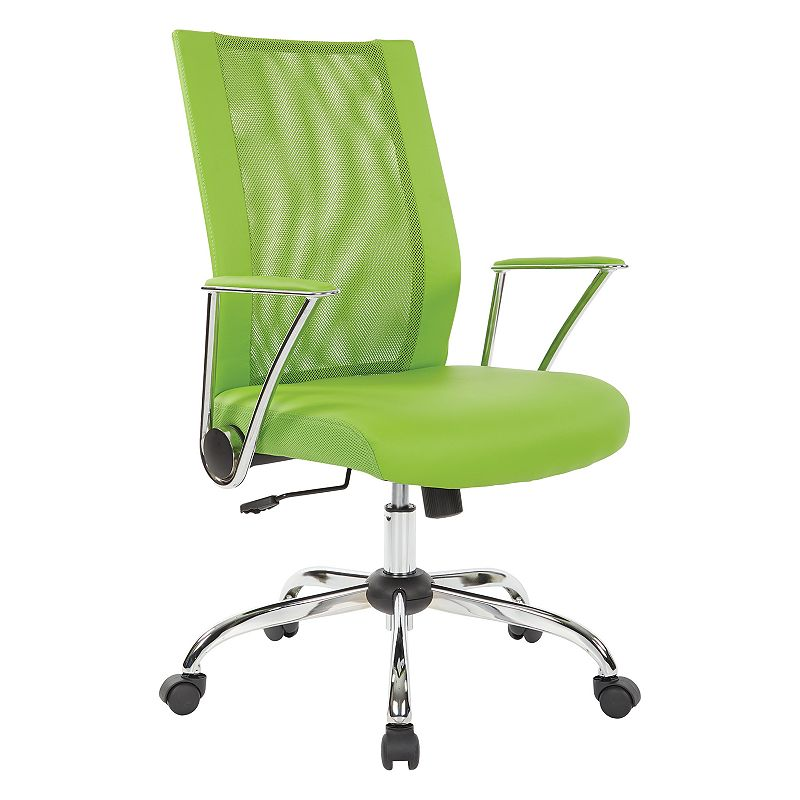 OSP Home Furnishings Bridgeway Office Chair, Green
