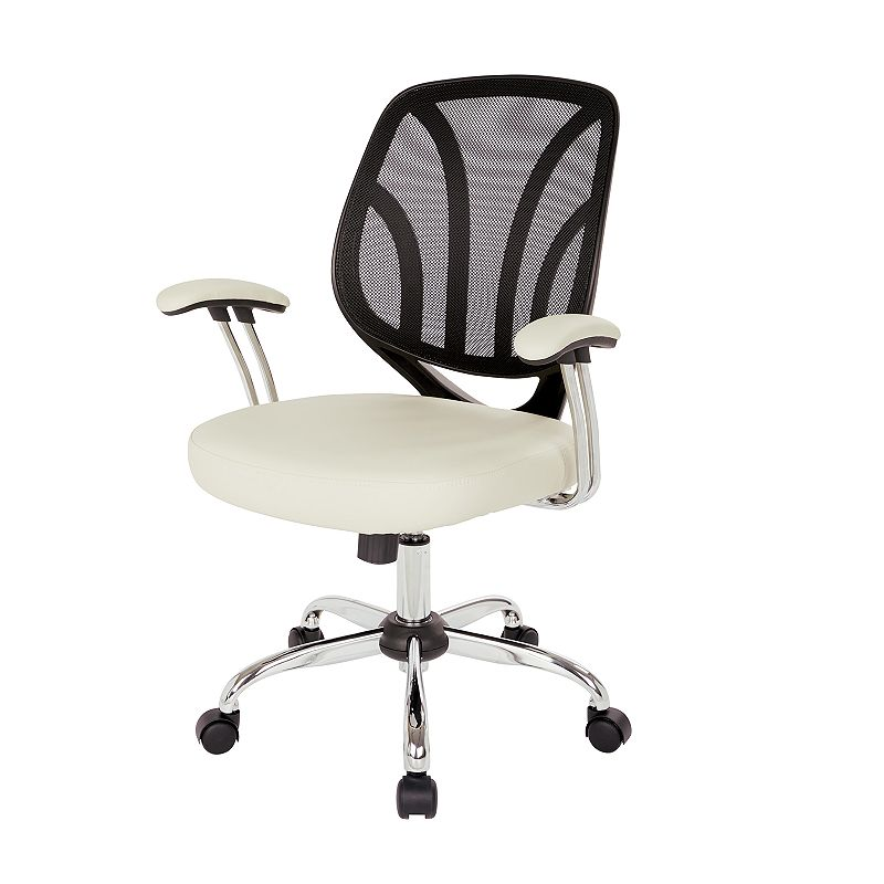 OSP Home Furnishings Screen Desk Chair, Beig/Green Keep comfortable while working in your office with this OSP Home Furnishings Screen Desk Chair. Silver finish on base Adjustable design 36.88 H x 25.25 W x 22 D Weight: 27 lbs. Seat height: 18 - 21.75-in. Weight limit: 250 lbs. Frame: nylon, steel Upholstery: polyurethane Fill: foam Manufacturer's 1-year limited warranty Assembly required Wipe clean Imported Model no. EM69203 Gift Givers: This item ships in its original packaging. If intended as a gift, the packaging may reveal the contents. Size: One Size. Color: Beig/Khaki.