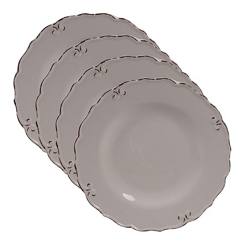 Certified International Vintage Cream 4-pc. Dinner Plate Set