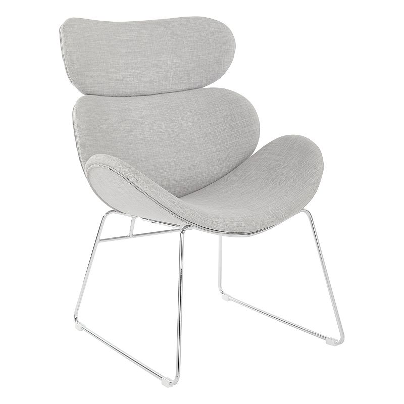 OSP Home Furnishings Jupiter Accent Chair, Grey