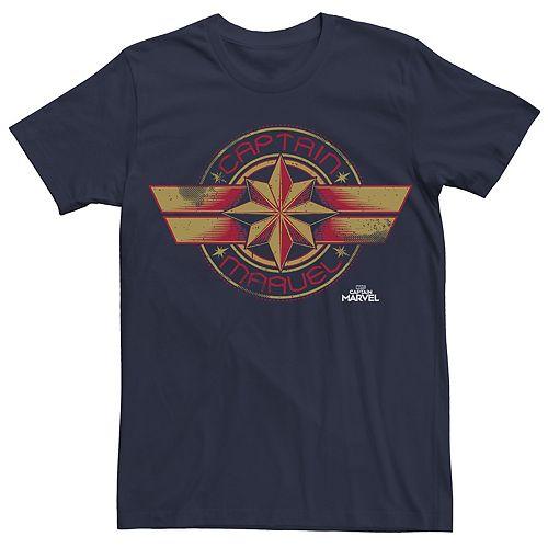 Men's Captain Marvel Badge Tee
