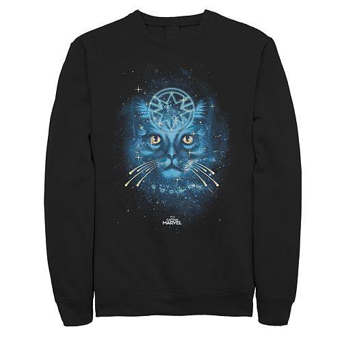 Men's Captain Marvel Spirit Cat Sweatshirt