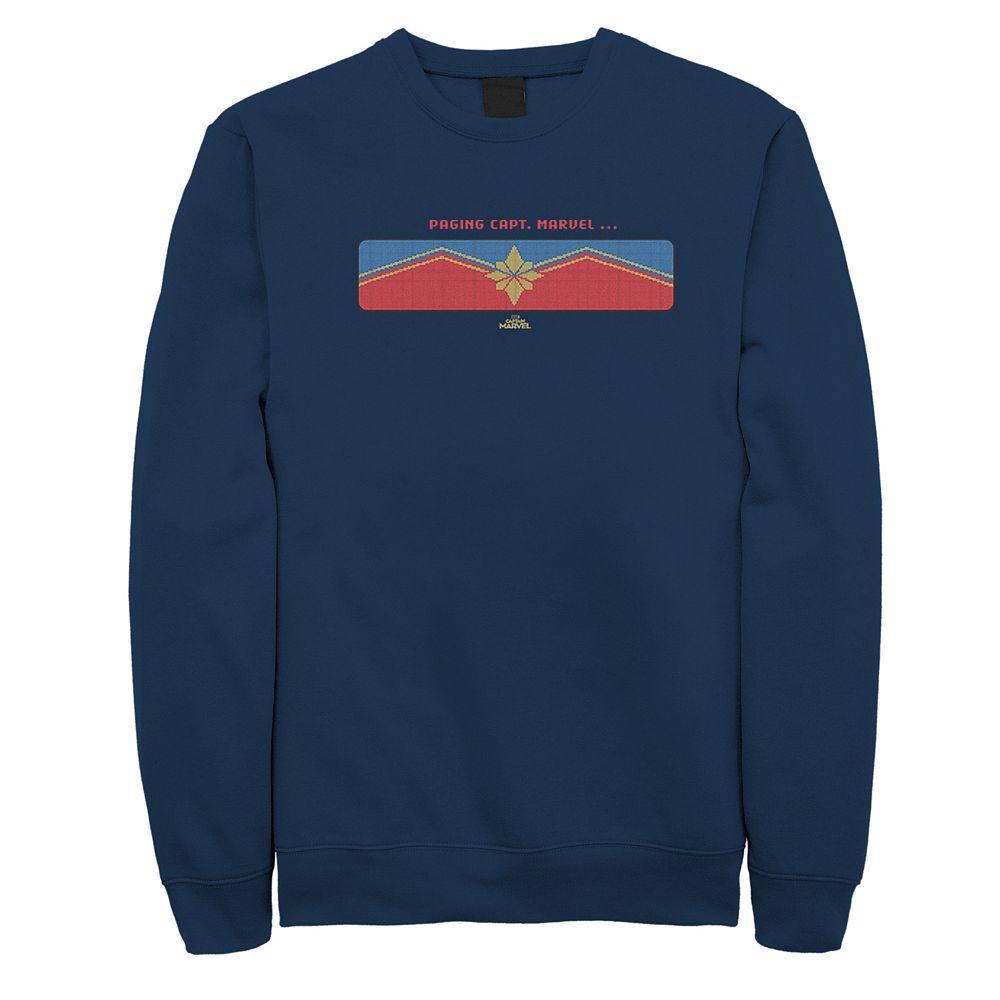 Men's Captain Marvel Get the Message Sweatshirt