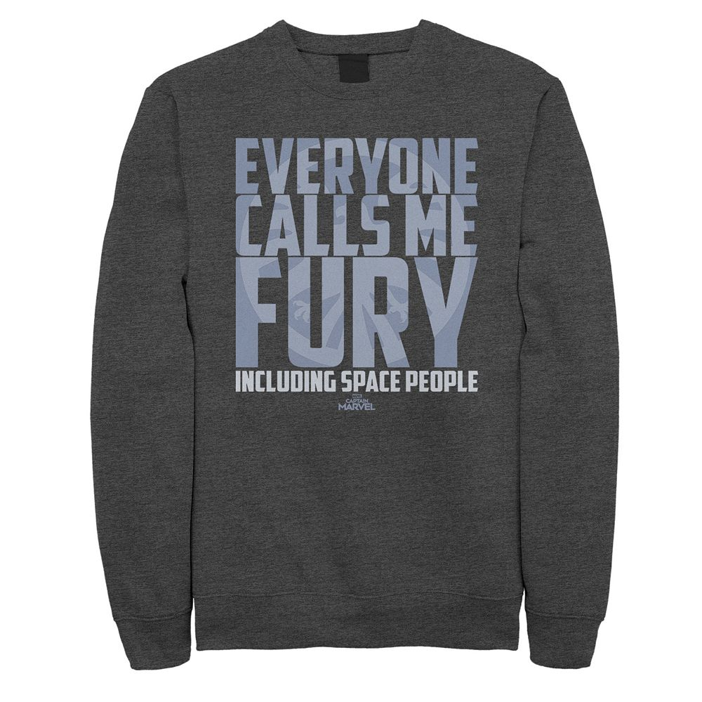 "Men's Captain Marvel ""Everyone Calls Me Fury"" Sweatshirt"