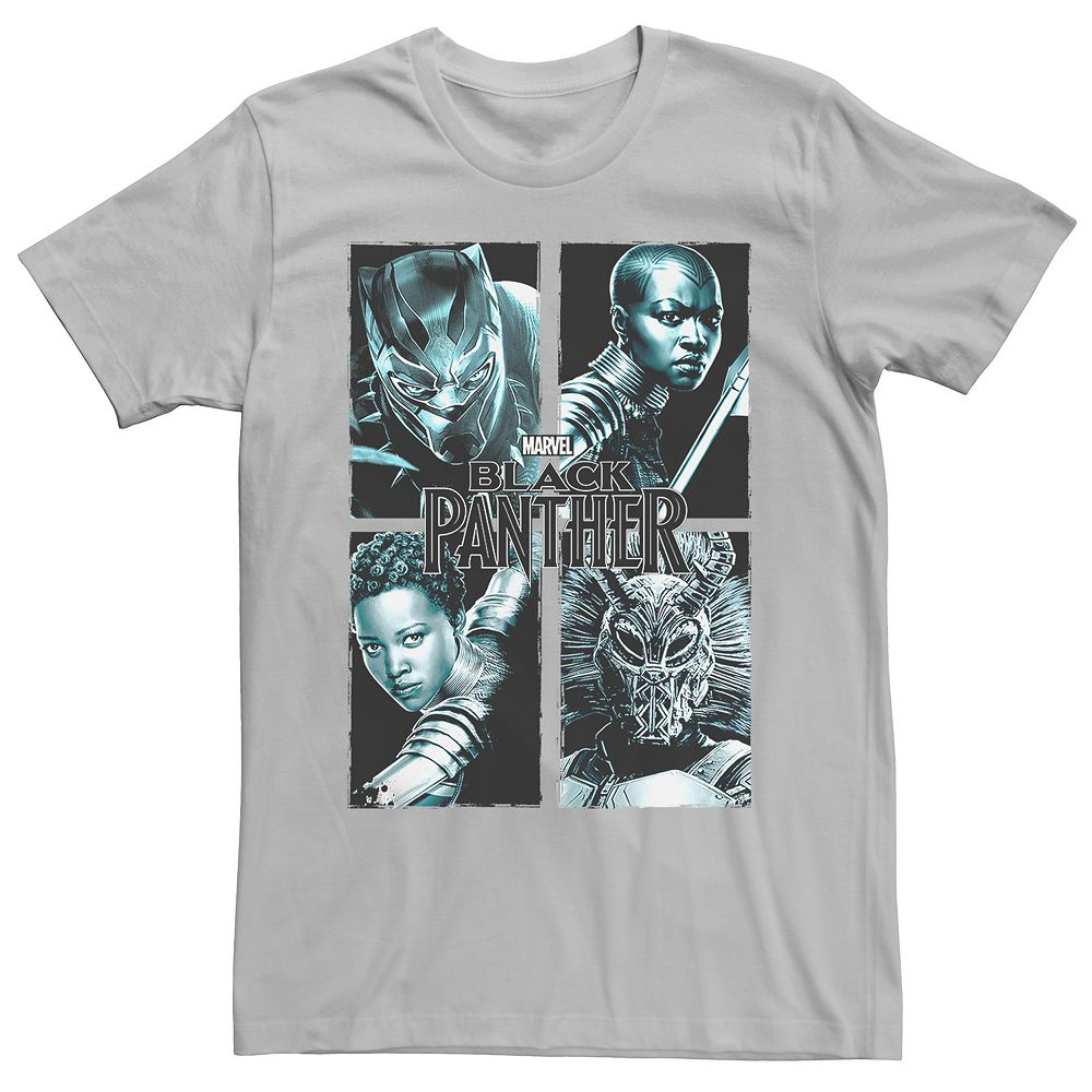 Men's Black Panther Characters Tee