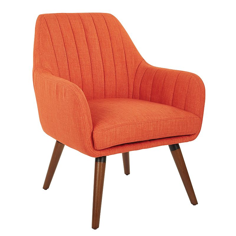 OSP Home Furnishings Mattie Accent Chair, Orange