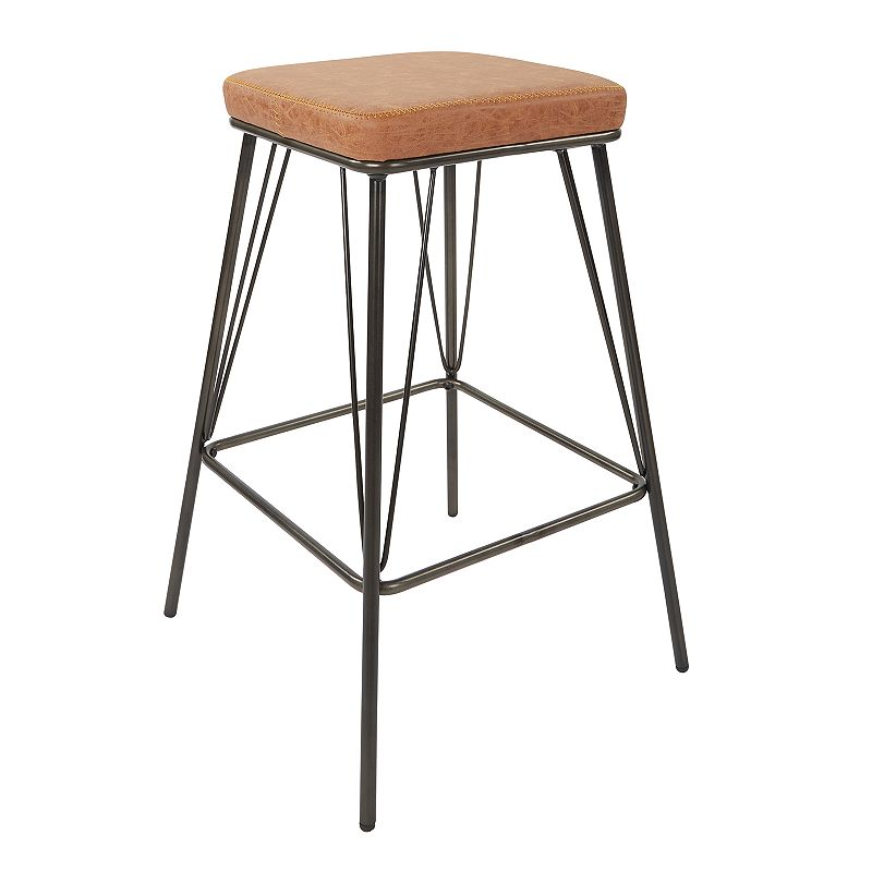 OSP Home Furnishings Mayson Counter Stool 2-piece Set, Brown