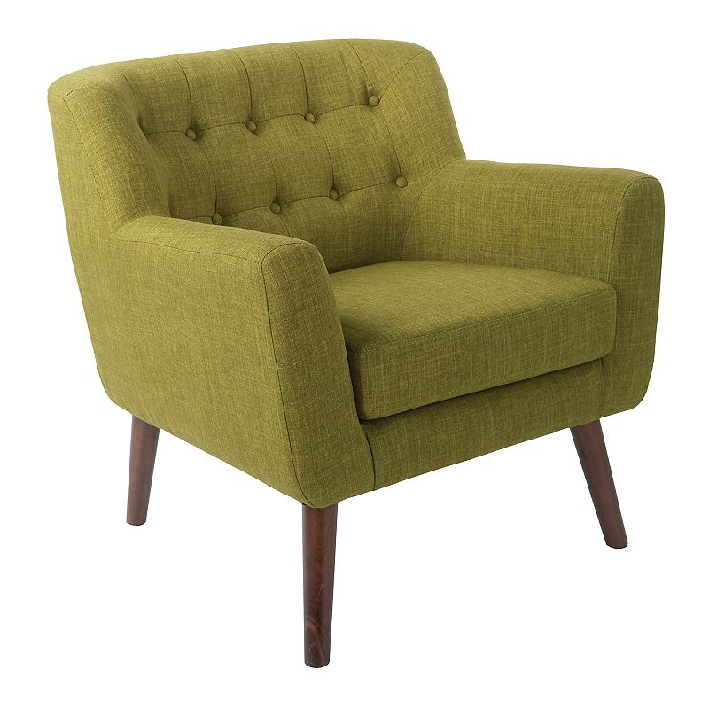 OSP Home Furnishings Mill Lane Accent Chair, Green