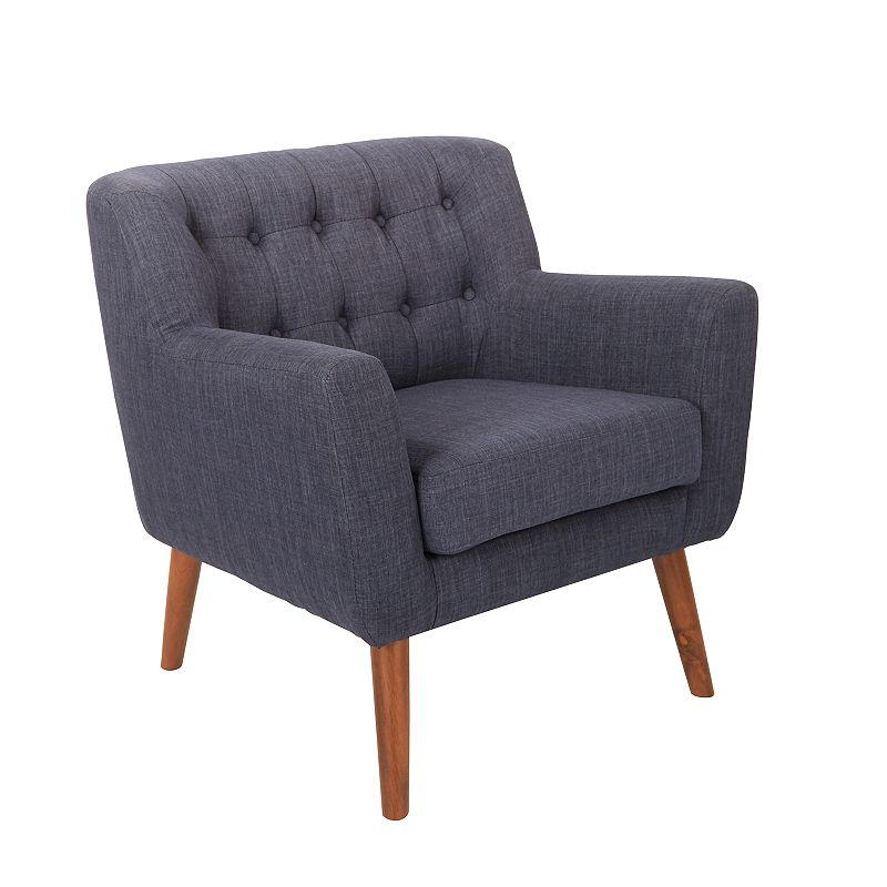 OSP Home Furnishings Mill Lane Accent Chair, Blue