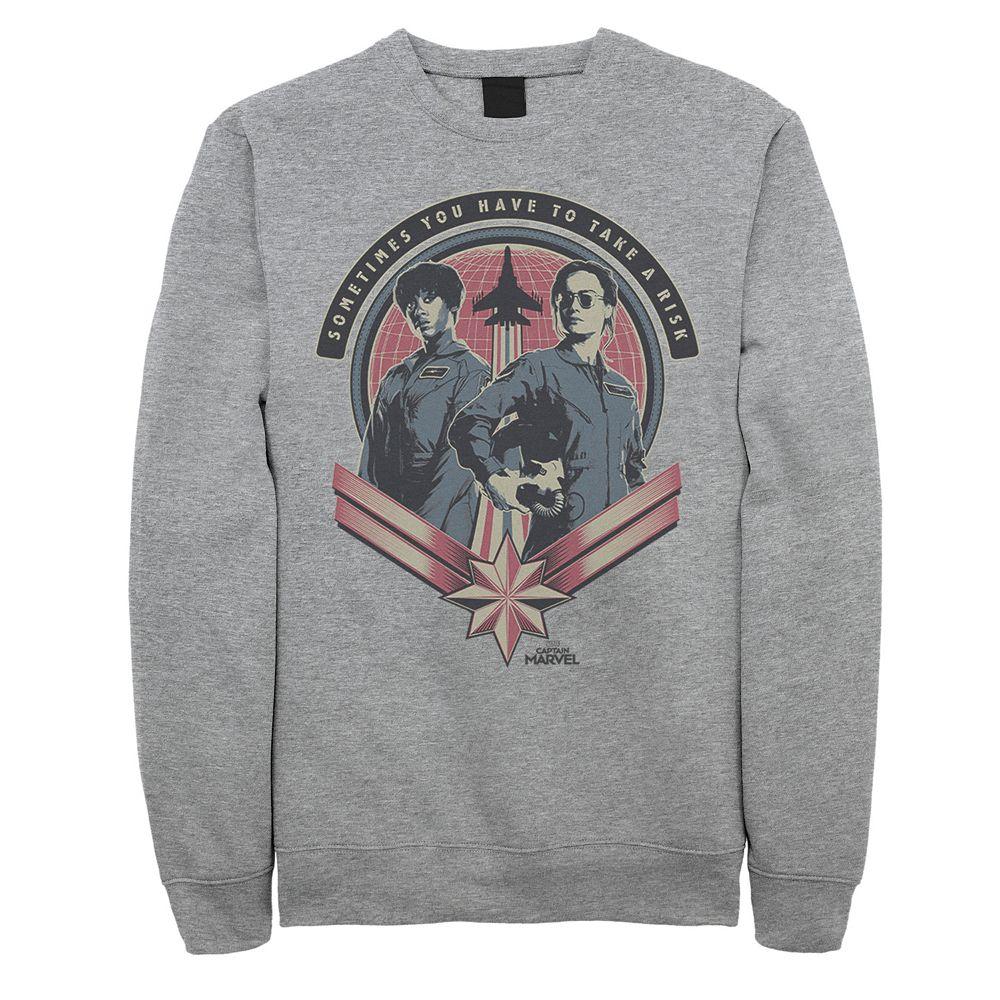 Men's Captain Marvel Fly Girls Sweatshirt