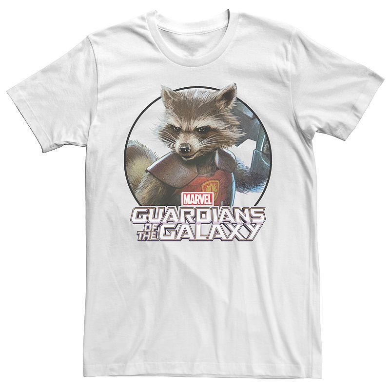 Men's Guardians of the Galaxy Rocket Raccoon Tee, Size: XL, White