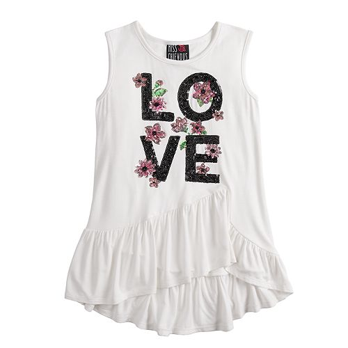 Girls 7-16 Miss Chievous Ruffled Peplum Tank