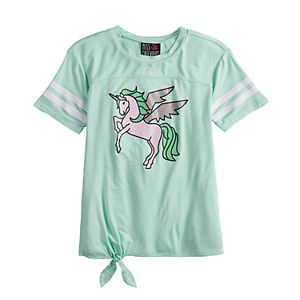 Girls 7-16 Miss Chievous Tie Front Graphic Tee
