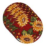 Certified International Sunset Sunflower 4-pc. Dinner Plate Set