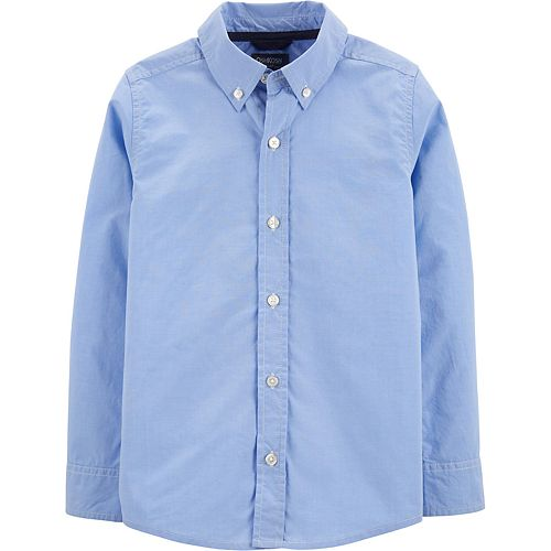 Boys 4-8 OshKosh B'gosh Striped Button-Front Uniform Shirt
