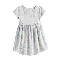 e05955ddef95 Toddler Girl Roll Cuff Skater Dress by Jumping Beans®