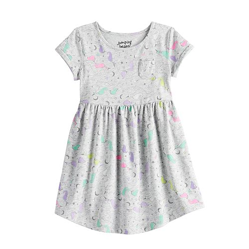 Toddler Girl Roll Cuff Skater Dress by Jumping Beans®