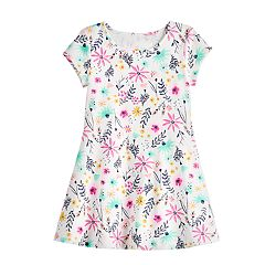 Toddler Girl Keyhole Back Skater Dress by Jumping Beans®