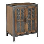 OSP Home Furnishings Catania 2-Door Console Cabinet