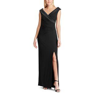 Women's Chaps Side Draped Gown Dress