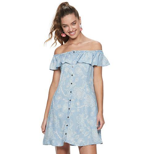 Juniors' Mudd® Off-the-Shoulder Dress