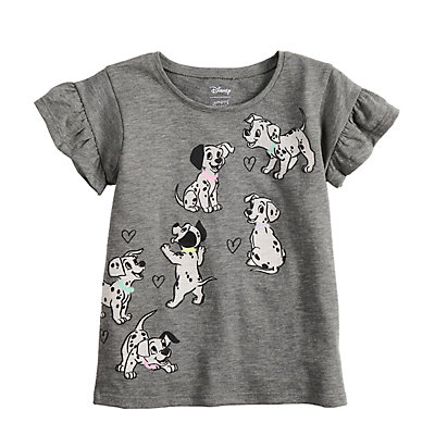 Disney's 101 Dalmatians Toddler Girl Ruffled Graphic Tee by Jumping Beans®