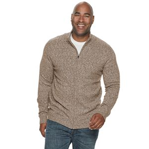 Big & Tall Croft & Barrow Extra Soft Full-Zip Sweater