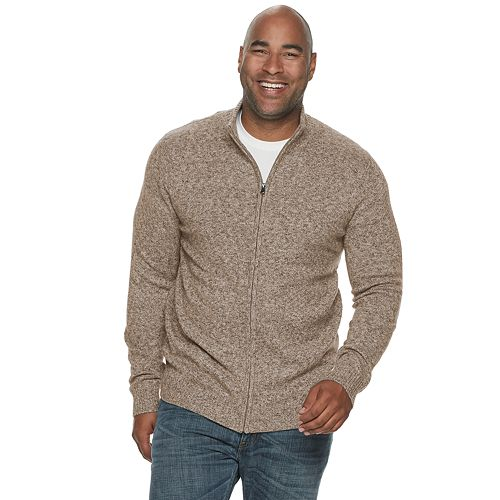 Big & Tall Croft & Barrow® Extra Soft Full-Zip Sweater