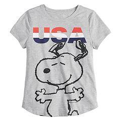 ffba940cf Girls 7-16 Family Fun Peanuts Snoopy 'USA' Graphic Tee