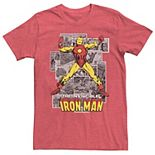Men's Iron Man Comic Tee
