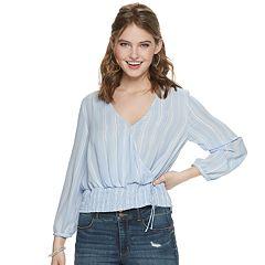 NEW! Juniors' Candie's® Long Sleeve Smocked Top