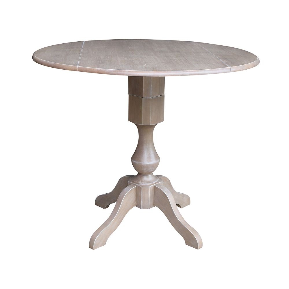 International Concepts Kayden Drop Leaf Pedestal Table