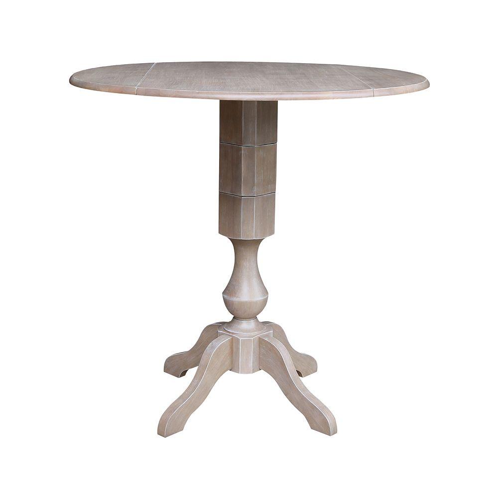 International Concepts Kayden Drop Leaf Pedestal Table