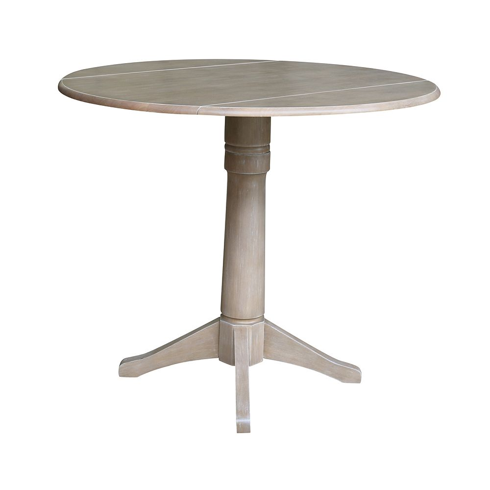 International Concepts Alexandra Drop Leaf Pedestal Table
