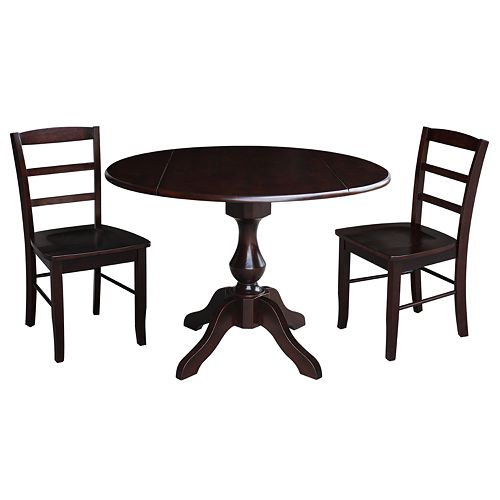 International Concepts Randolph Pedestal Table & Chairs 3-pc. Dining Set