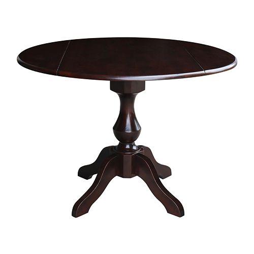 International Concepts Candace Drop Leaf Pedestal Table
