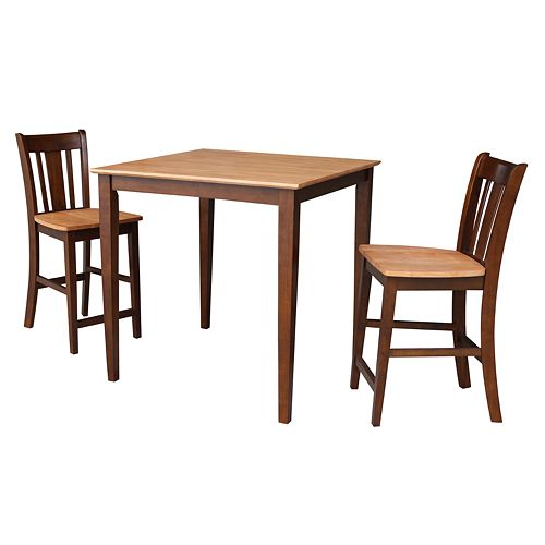 International Concepts Roland Counter Height Dining Table & Stools 3-pc. Dining Set