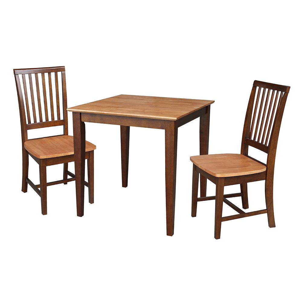 International Concepts Roderick Dining Table & Chairs 3-pc. Dining Set