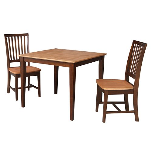 International Concepts Richard Dining Table & Chairs 3-pc. Dining Set