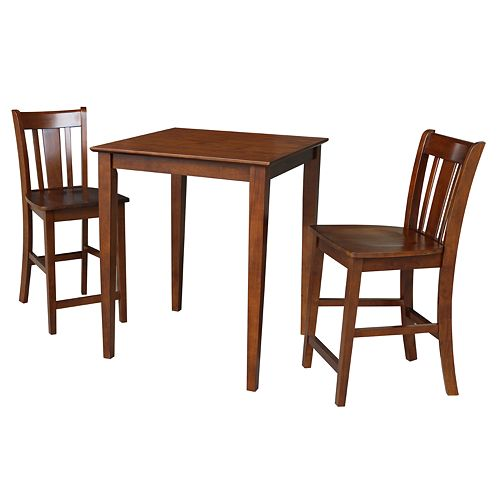 International Concepts Sebastian Counter Height Dining Table & Stools 3-pc. Dining Set