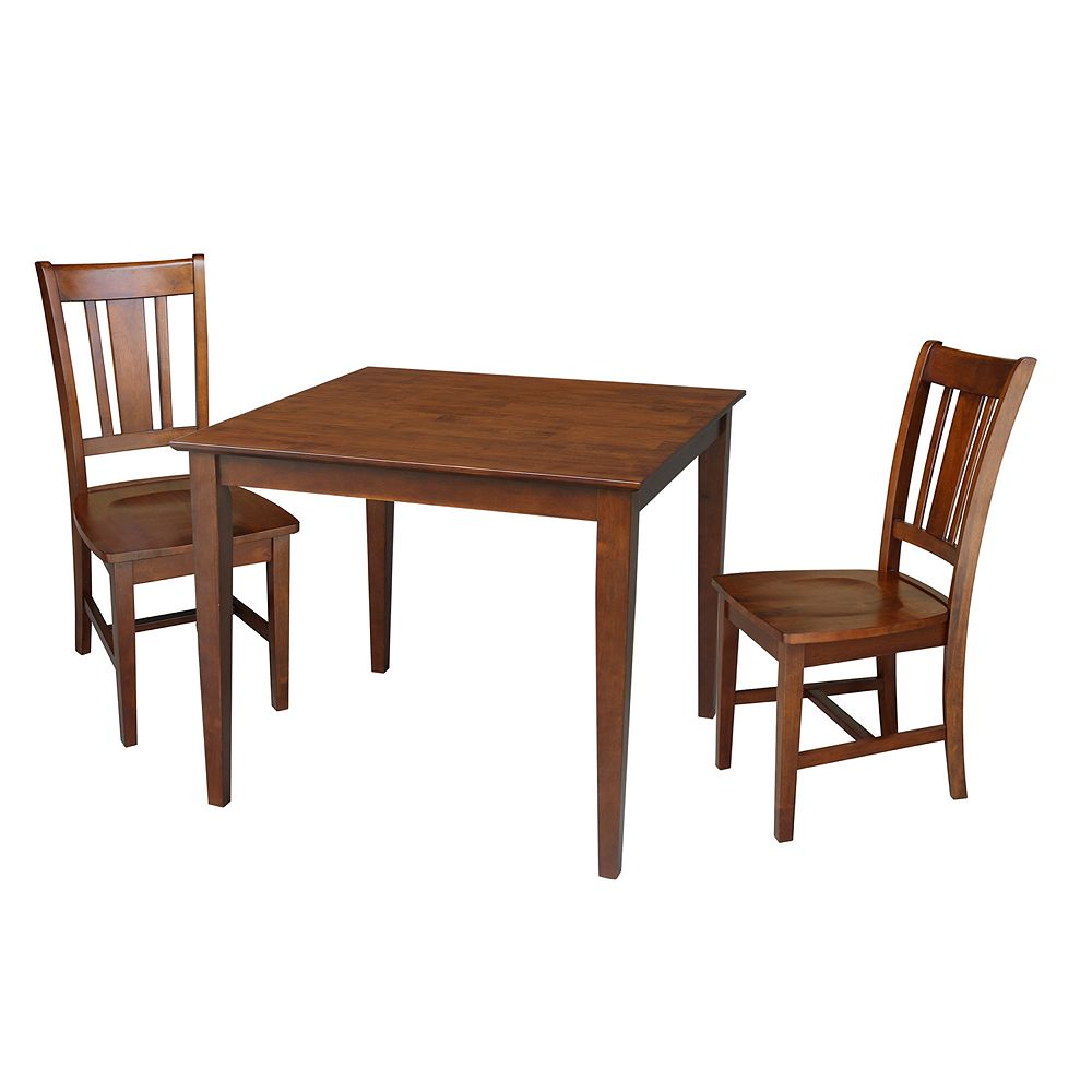 International Concepts Theodore Dining Table & Chairs 3-pc. Dining Set